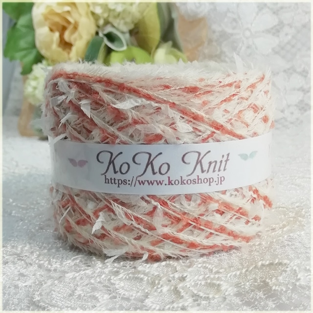 §koko§ Fairies ~花の妖精~ レッド 1玉51g 伸縮糸引き揃え ヘアバンド等使い方を楽しんで下さい♪