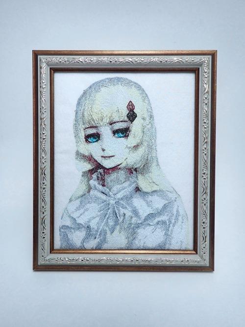 キャラ縫い額装刺繍 王女シャッフル「王女の休日」