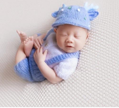 ブルーのトナカイ帽子の衣装セット♡2サイズ展開