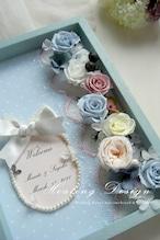 ウェディング ウェルカムボード ボックス(ブルー&ピンク)結婚式