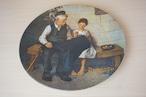 ノーマンロックウェル 絵皿(114-30)