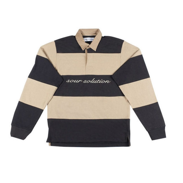 SOUR RUGBY POLO BLACK/CAMEL