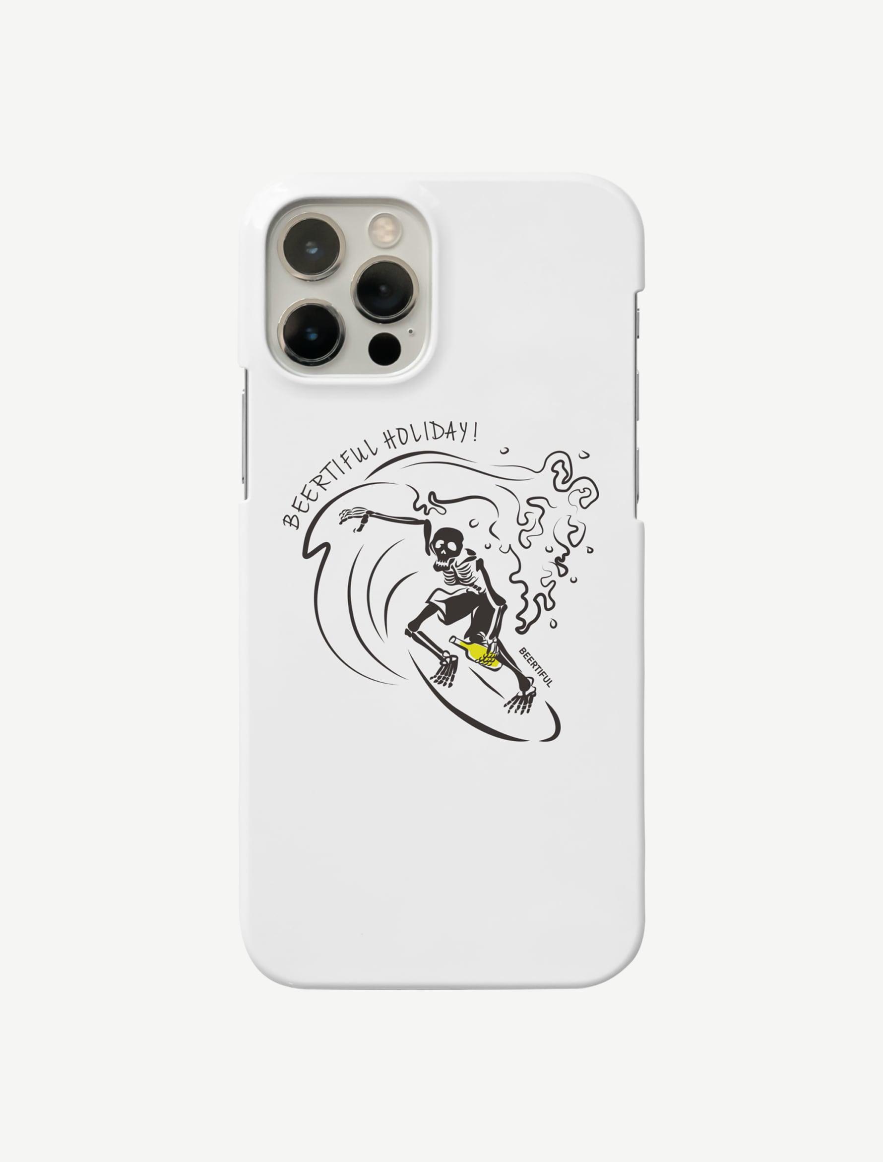 【サーフィンガイコツ】iphoneケース(スマホケース)