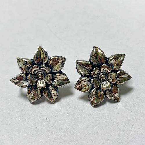 Vintage Sterling Floral Earrings