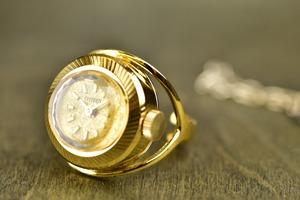 【ビンテージ時計】1970年12月製造 シチズン指輪時計 日本製 少しゴージャスな装いにあわせて