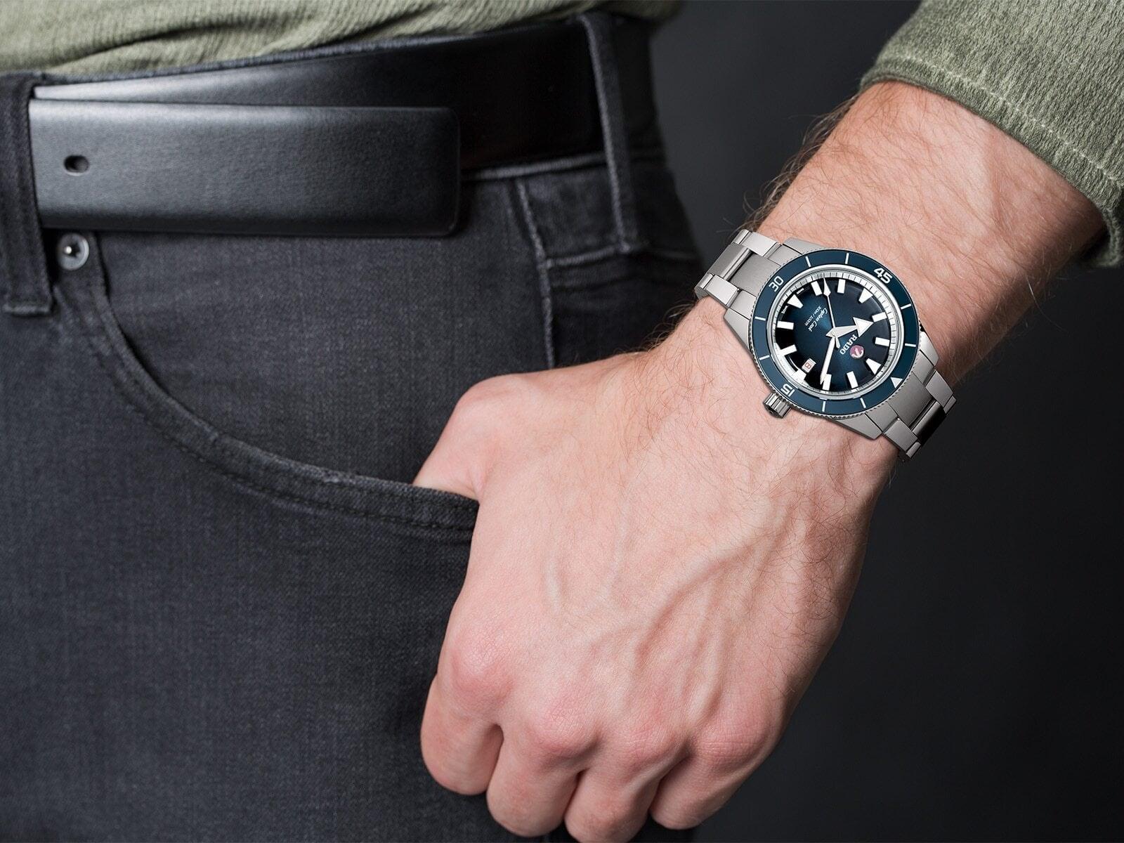 【RADO ラドー】Captain Cook キャプテンクック ブレスレット(ブルー)/国内正規品 腕時計