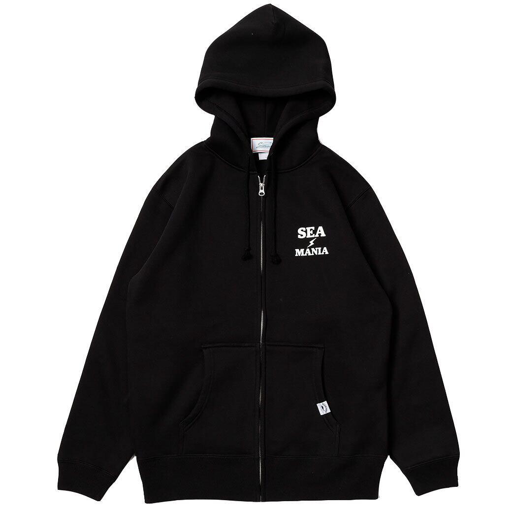 【Seamania】バックプリントIKA パーカー [ブラック]