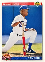 MLBカード 92UPPERDECK Donald Harris #011 RANGERS Rookie Card