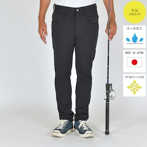 """""""The Active Angler""""   FISHING STRETCH  PUNCH PANTS BLACK BW-107VM"""