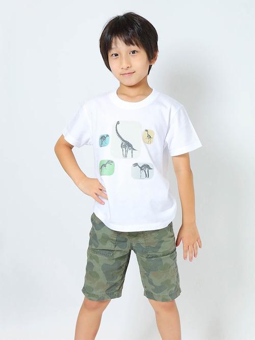 サイズとカラーを好きに選べるオーダーTシャツ(子供から大人まで) 恐竜骨格3Dプリント