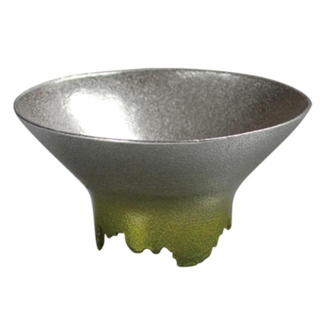 SHIKICOLORS BRIGHTGREEN SAKE CUP(錫の酒器)