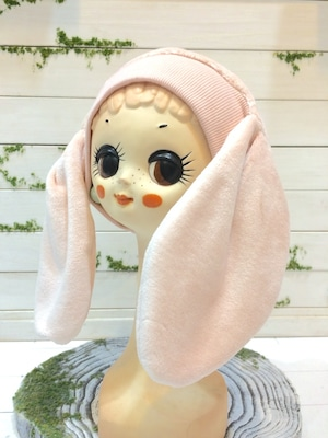 NIGATSU うさみみ帽 ベビーピンク
