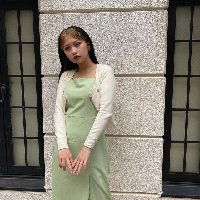 【Belle】square neck knit cardigan / ivory