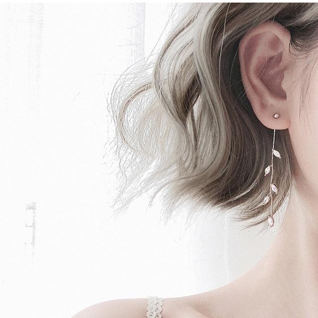 silver leaf design pierce/  A001