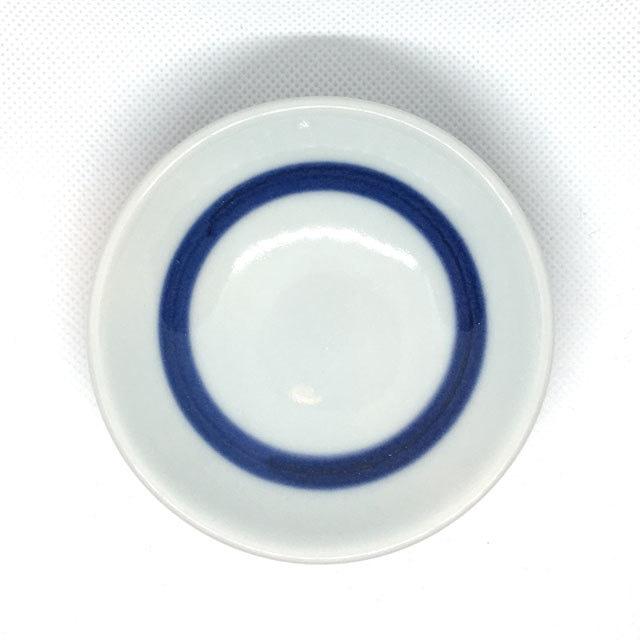 【砥部焼/梅山窯】3寸小皿(朱線)