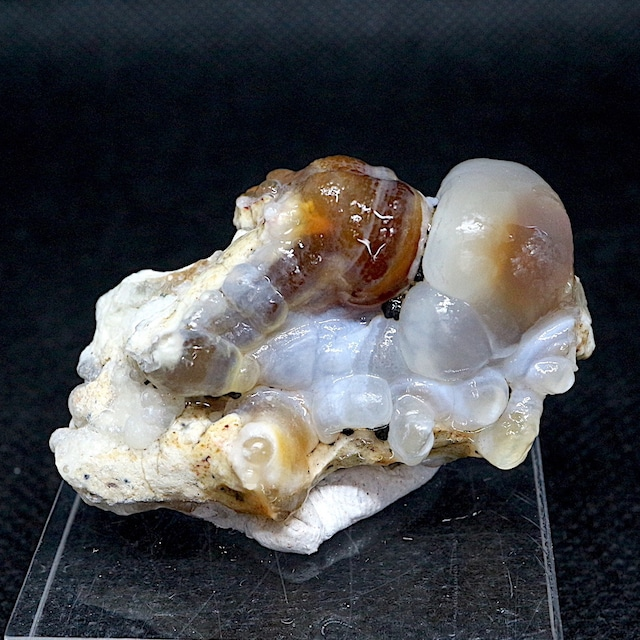 アリゾナ州産 ファイヤー アゲート カルセドニー 26g FA040 鉱物 原石 天然石 パワーストーン