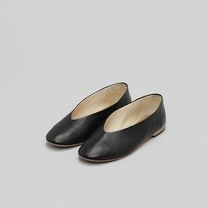 【_Fot】V ballet レザーパンプス black/brown/white /0103s