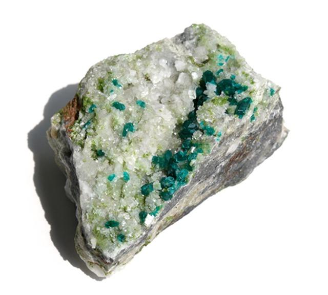 ダイオプテーズ結晶 母岩つき