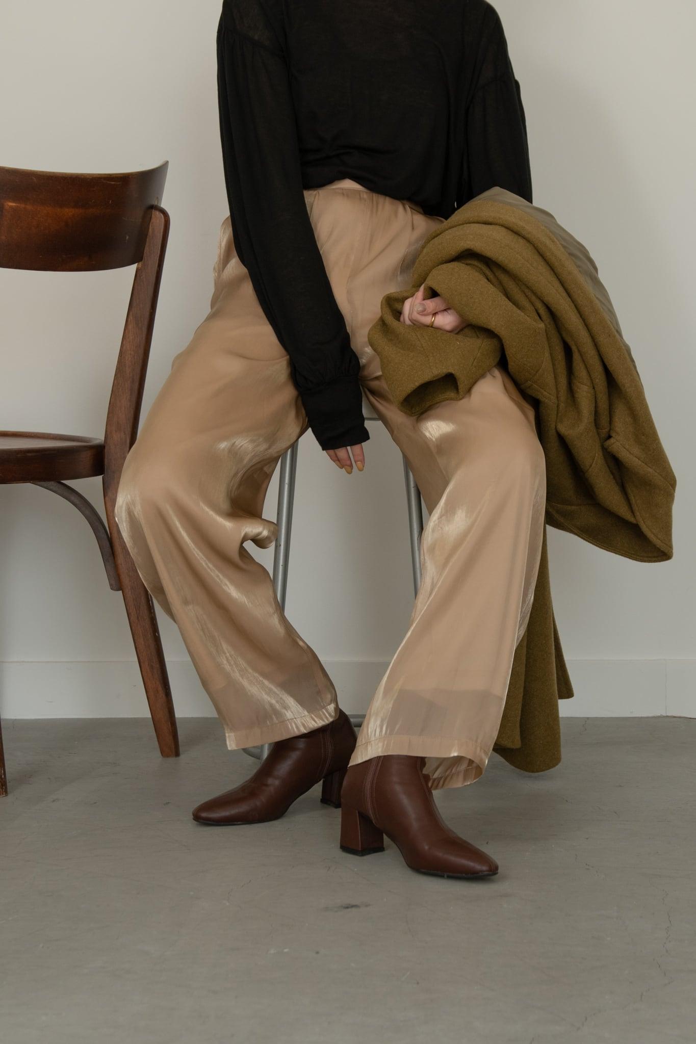 crape satin pants