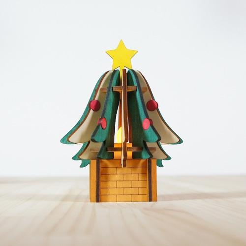 「クリスマスツリー」木製ミニランプ