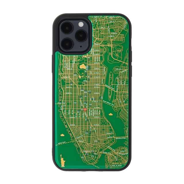 FLASH NY回路地図 iPhone 12 / 12 Pro ケース  緑【東京回路線図A5クリアファイルをプレゼント】