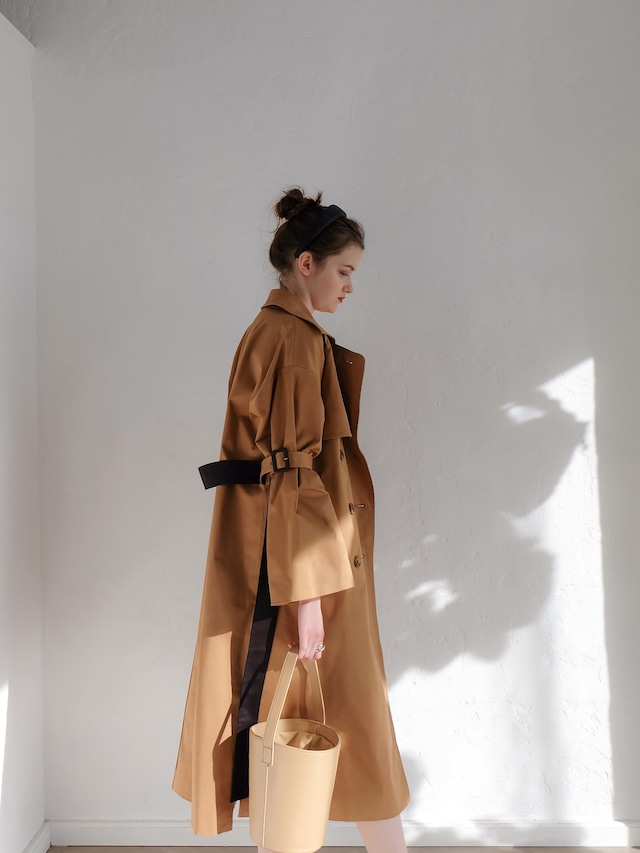bell sleeve trench(brown)
