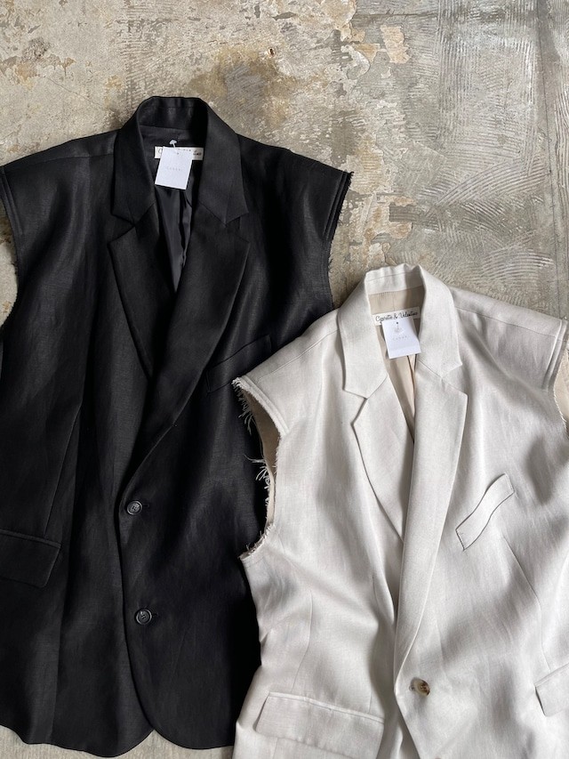 overfiting vest - off white & black -