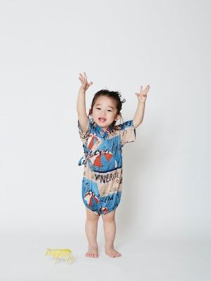 【21SS】WOLF&RITA(ウルフアンドリタ)-JINBEI BABY PARASOL[12-18M / 18-24M]甚平 ロンパース 祭