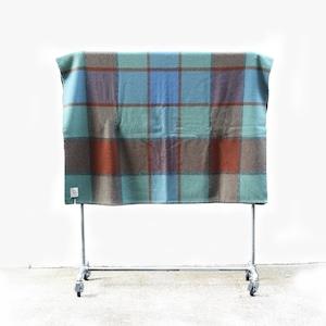loomer (ルーマー)Shetland Wool Check Blanket Big【Green Check】 (ブランケット・ウール)