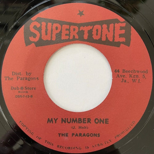 The Paragons - My Number One【7-20764】