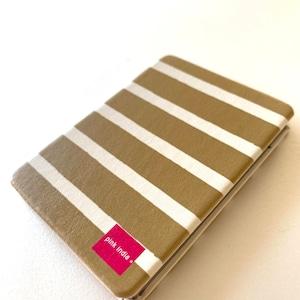 北欧デザイン コンパクト2面ミラー   maroon stripe