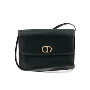 Christian Dior クリスチャン ディオール CD金具 ショルダーバッグ ブラック vintage ヴィンテージ オールド y452ru