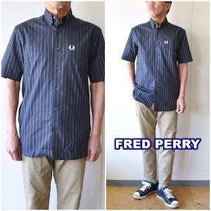 FREDPERRY フレッドペリー ボタンダウンシャツ M1579 半袖シャツ 半袖ボタンダウンシャツ ストライプ