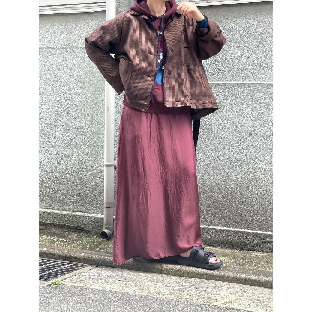 【RehersalL】check tweed short coat(brown) /【リハーズオール】チェックツイードショートコート(ブラウン)