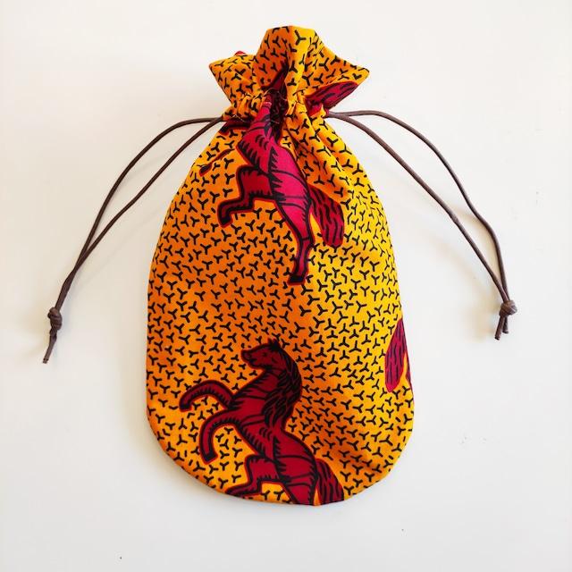 アフリカンファブリック お財布袋 mestengo巾着