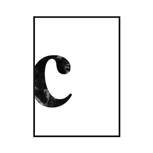 """c"" 黒大理石 - Black marble - ALPHAシリーズ [SD-000530] A4サイズ ポスター単品"