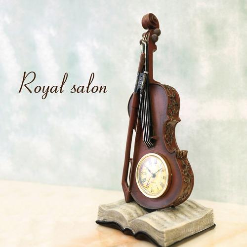 ロイヤルサロン[テーブルクロック(Violin & Book)]