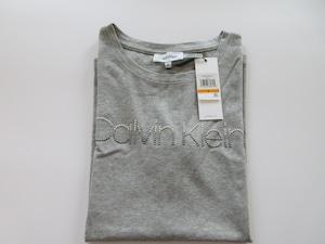 【カルバンクライン】CALVIN KLEIN Tシャツ グラデーションシルバー金具