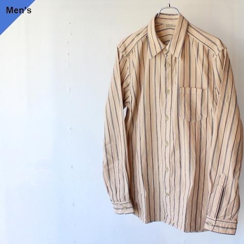 Orgueil オルゲイユ Stripe Work Shirt ストライプワークシャツ Beige