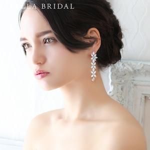 【受注生産品】キュービックジルコニア ブライダルイヤリング&ピアス Angelica - アンジェリカ