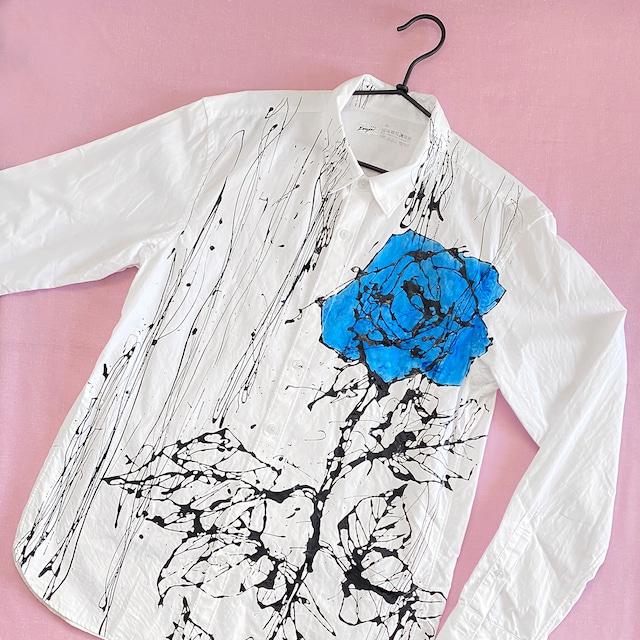 F's rose 【 藤井清秀  シャツアート】青薔薇 XL