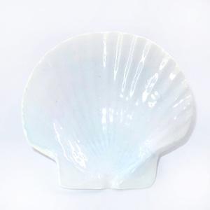 ホタテ貝皿(白色)T-9