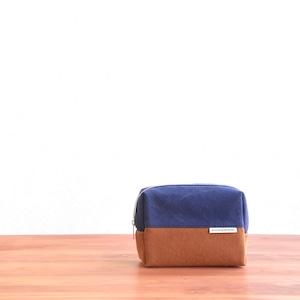 CANVAS BOX POUCH M / NV×CM