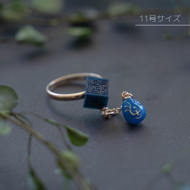 【35th記念】天空の城ラピュタ リング11号サイズ 飛行石と要石(0939)