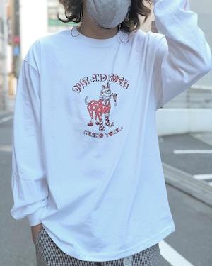 "DUST AND ROCKS × Yutaka Nojima Long Sleeve T-shirts ""Dog Race"""