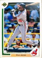 MLBカード 91UPPERDECK Dion James #399 INDIANS