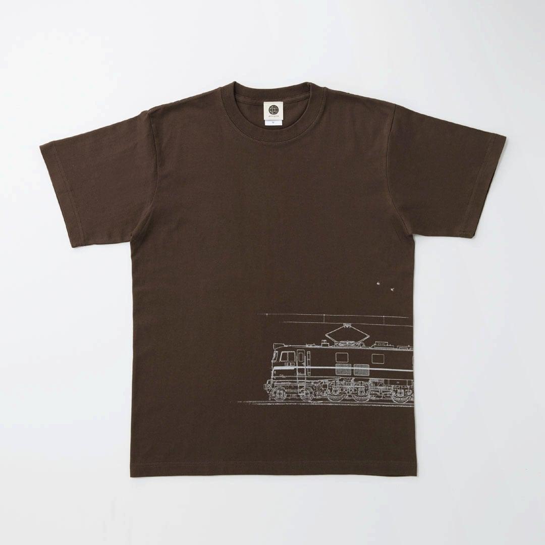 鉄道Tシャツ EF58-61 ( Dark Brown × Silver )