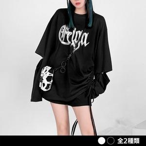 スリーブカットドロストプリントシャツ(全2色) / HWG339