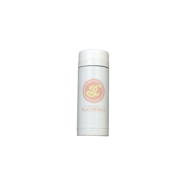 6th Anniversary Thermo Stainless Bottle 200ml [ WHITE x PINK ]