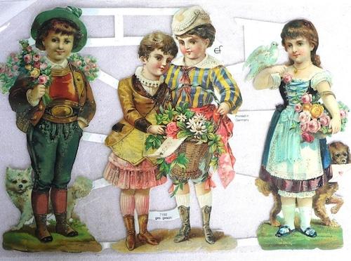 ディアンドル&レダーホーゼン 民族衣装の子供たち クロモス ドイツ コラージュ ef  7188